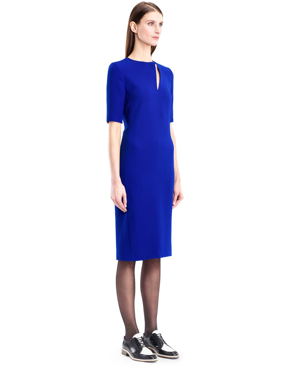 GITANE BLUE CADY DRESS - Lanvin