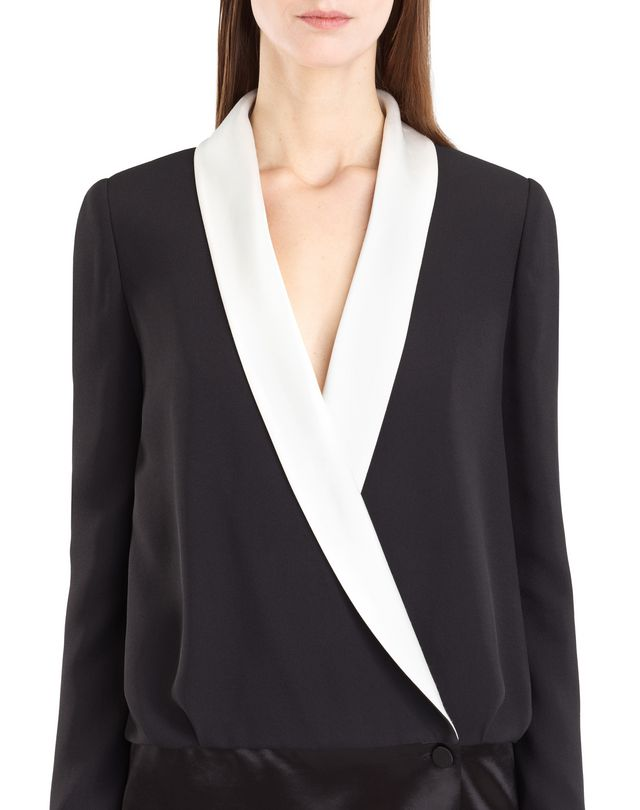 LANVIN SATIN SABLE TUXEDO DRESS Dress D r