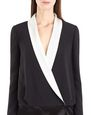LANVIN Dress Woman SATIN SABLE TUXEDO DRESS f
