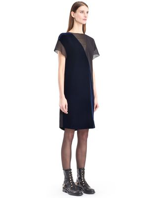 LANVIN FLOWY VELVET DRESS Dress D d