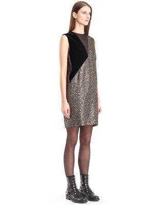 LANVIN GOLDEN LEOPARD DRESS Dress D d