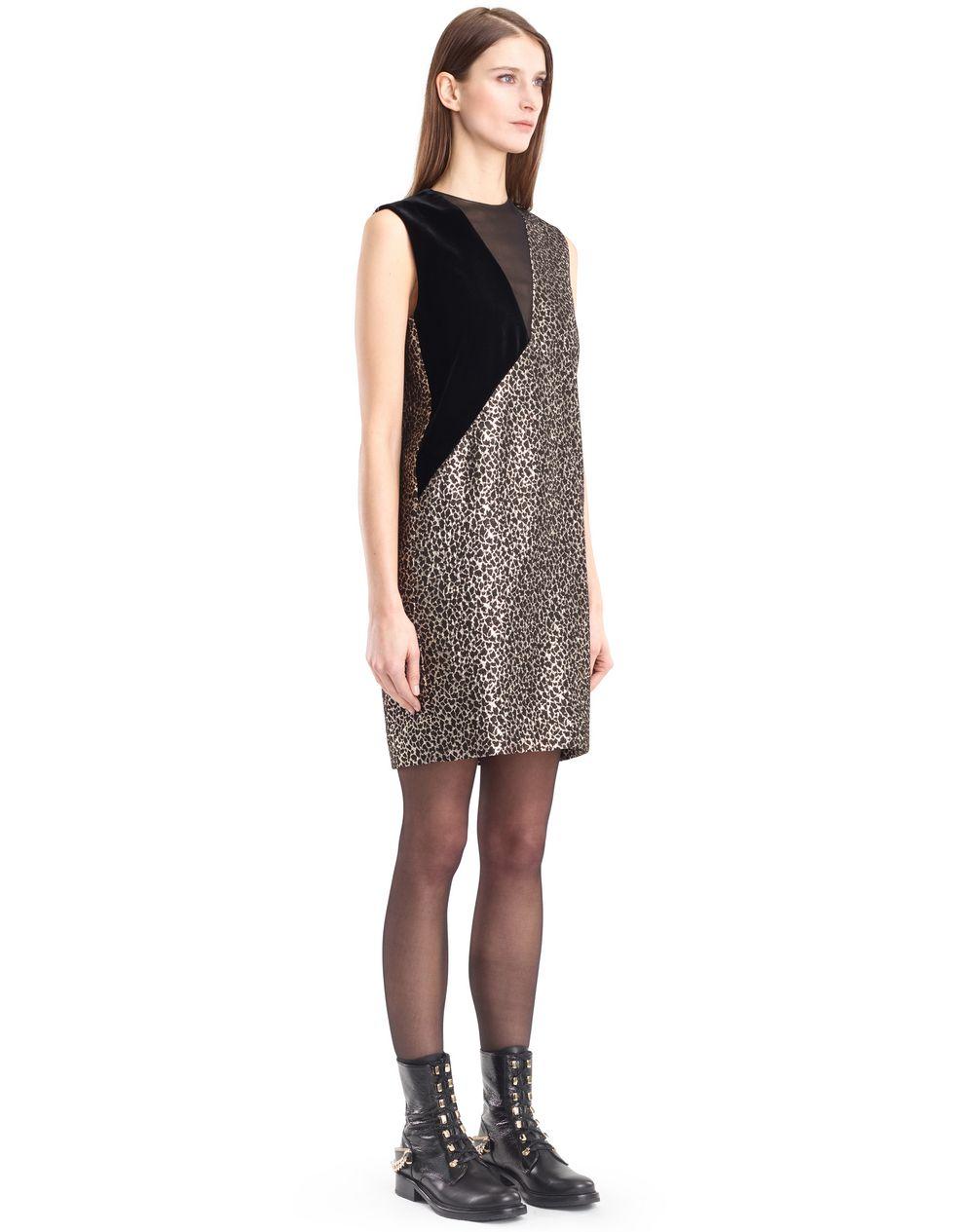 GOLDEN LEOPARD DRESS - Lanvin