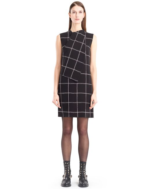 lanvin checkered cady dress women