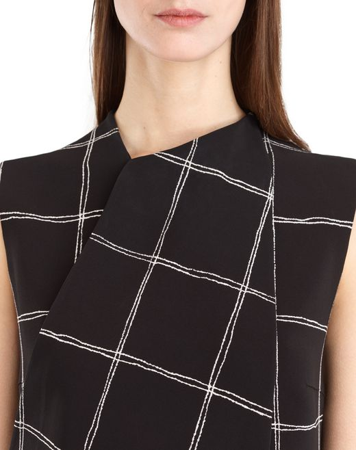 lanvin chequered cady dress women