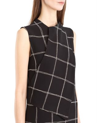 LANVIN CHECKERED CADY DRESS Dress D a