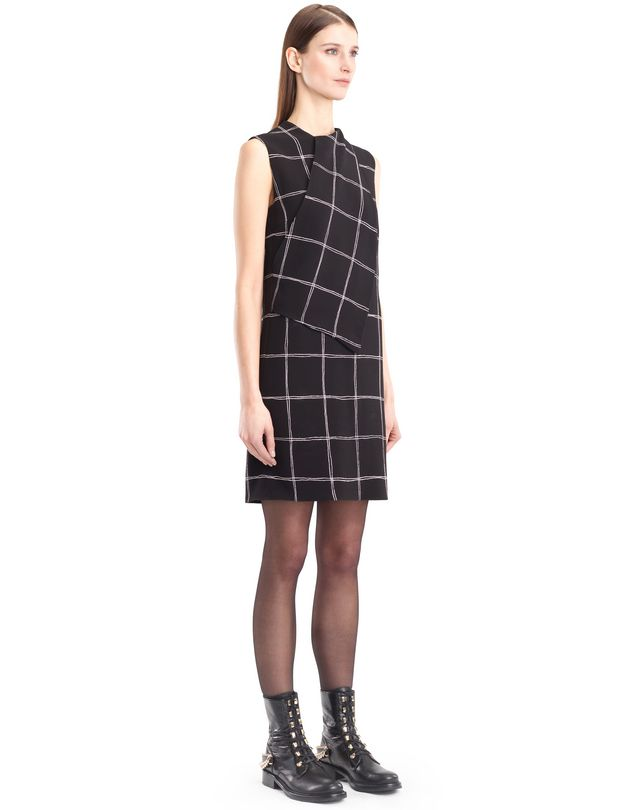 LANVIN CHEQUERED CADY DRESS Dress D d