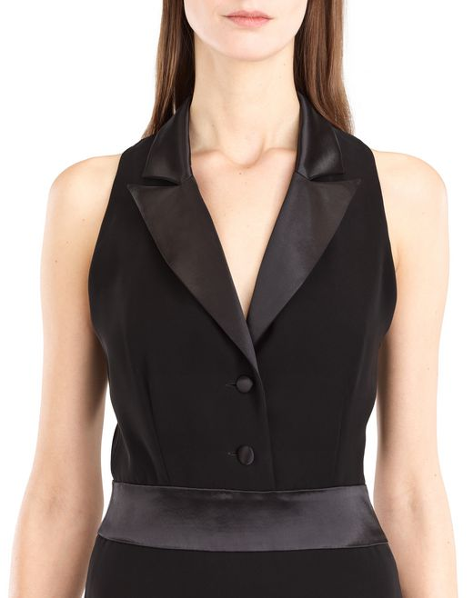 lanvin long cady tuxedo dress women