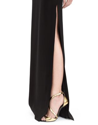 LANVIN LONG CADY TUXEDO DRESS Long dress D b