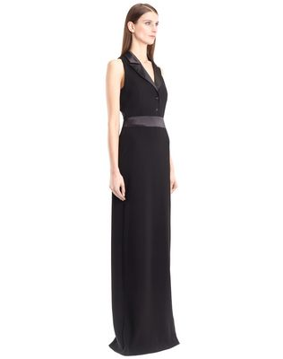 LANVIN LONG CADY TUXEDO DRESS Long dress D d