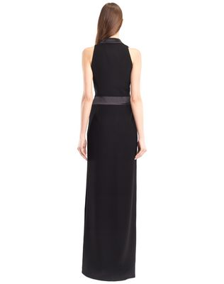 LANVIN LONG CADY TUXEDO DRESS Long dress D e