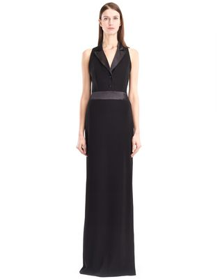 LANVIN LONG CADY TUXEDO DRESS Long dress D f