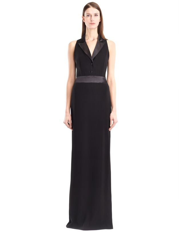 LANVIN LONG CADY TUXEDO DRESS Long dress D f