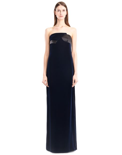 lanvin long flowy velvet dress women