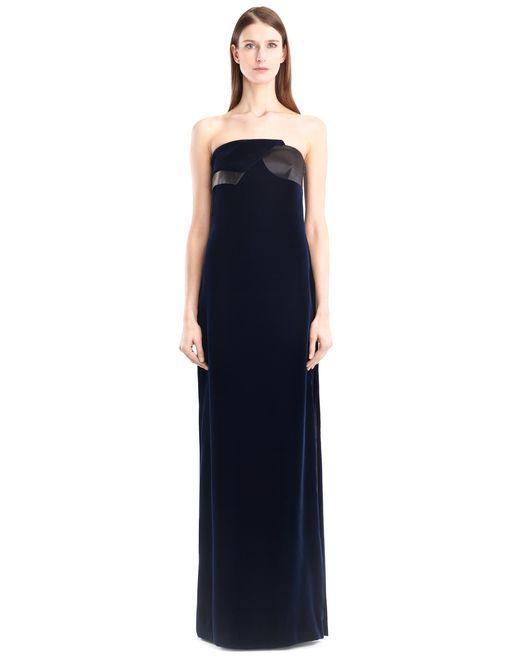 lanvin robe longue velours fluide femme