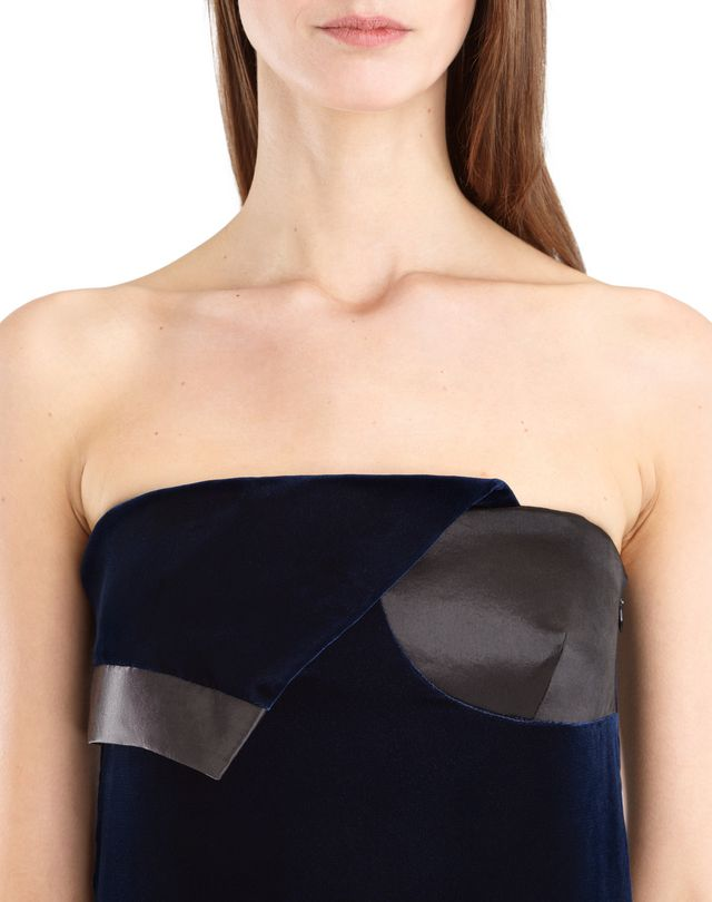 LANVIN LONG FLOWY VELVET DRESS Long dress D a