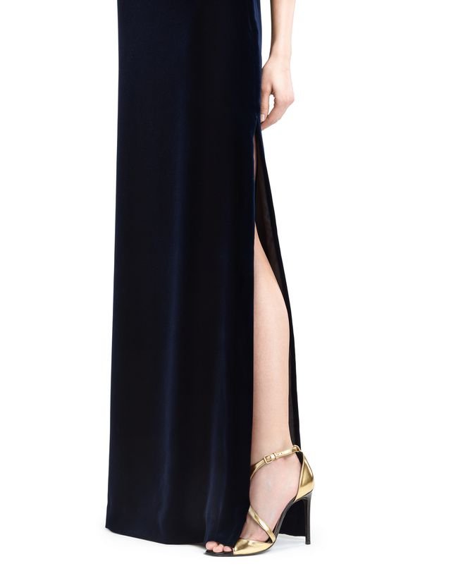 LANVIN LONG FLOWY VELVET DRESS Long dress D b