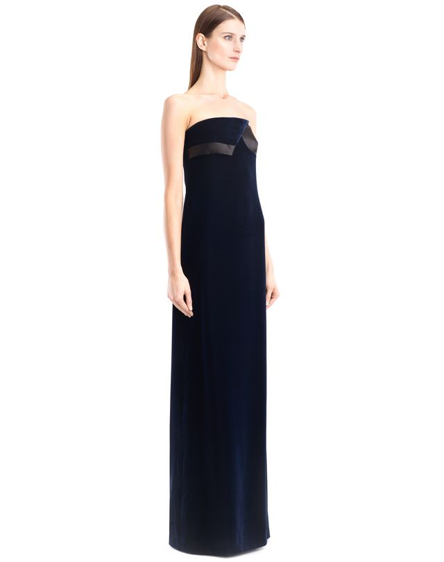 LANVIN LONG FLOWY VELVET DRESS Long dress D d