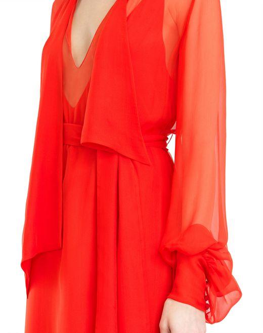 lanvin robe longue mousseline de soie femme