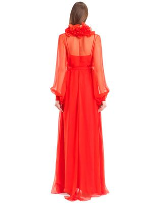 LANVIN LONG SILK CHIFFON DRESS Long dress D e