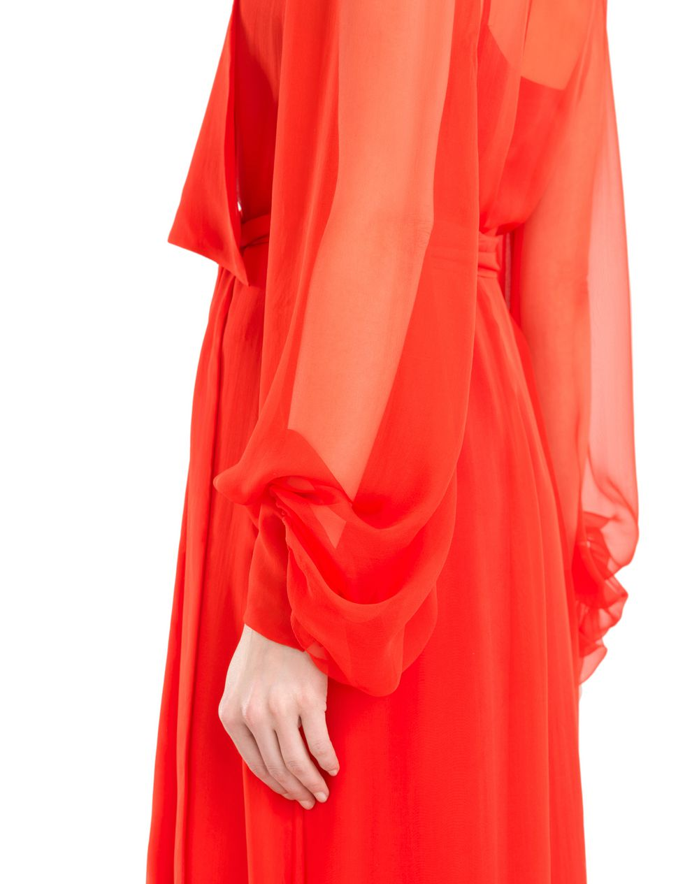 LONG SILK CHIFFON DRESS - Lanvin
