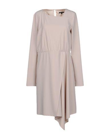 PATRIZIA PEPE Damen Knielanges Kleid Beige Größe 40 88% Polyester 12% Elastan