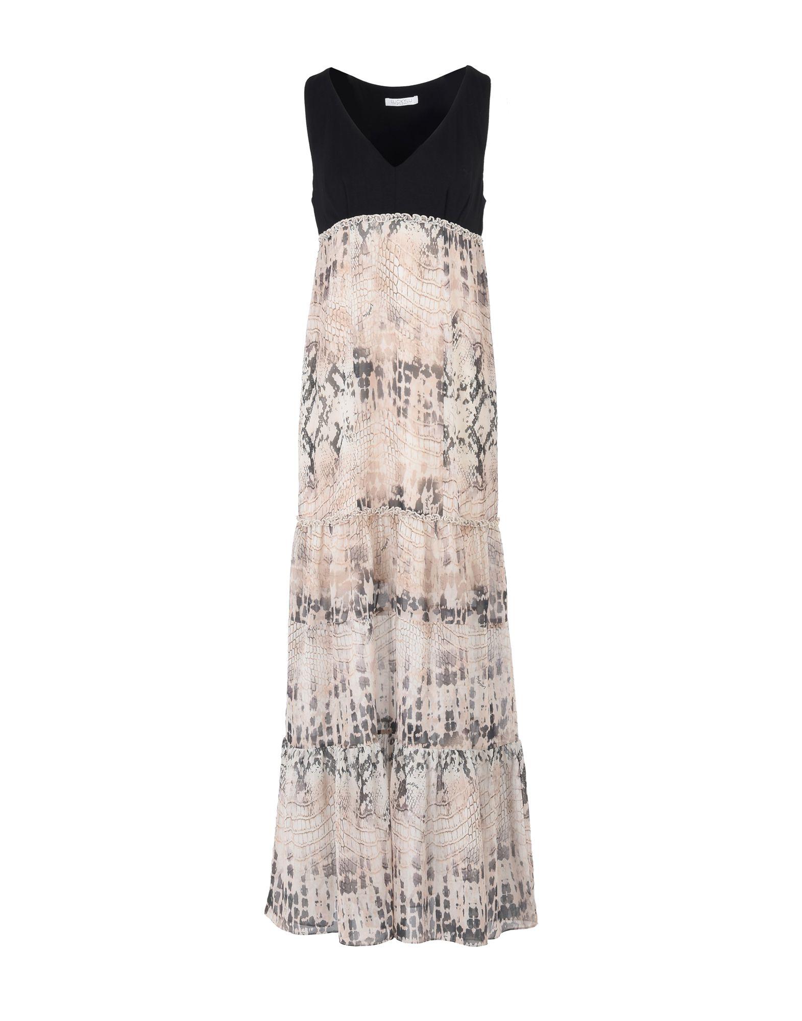 LUCKY LU Milano Длинное платье платье alex lu alex lu mp002xw0jbke
