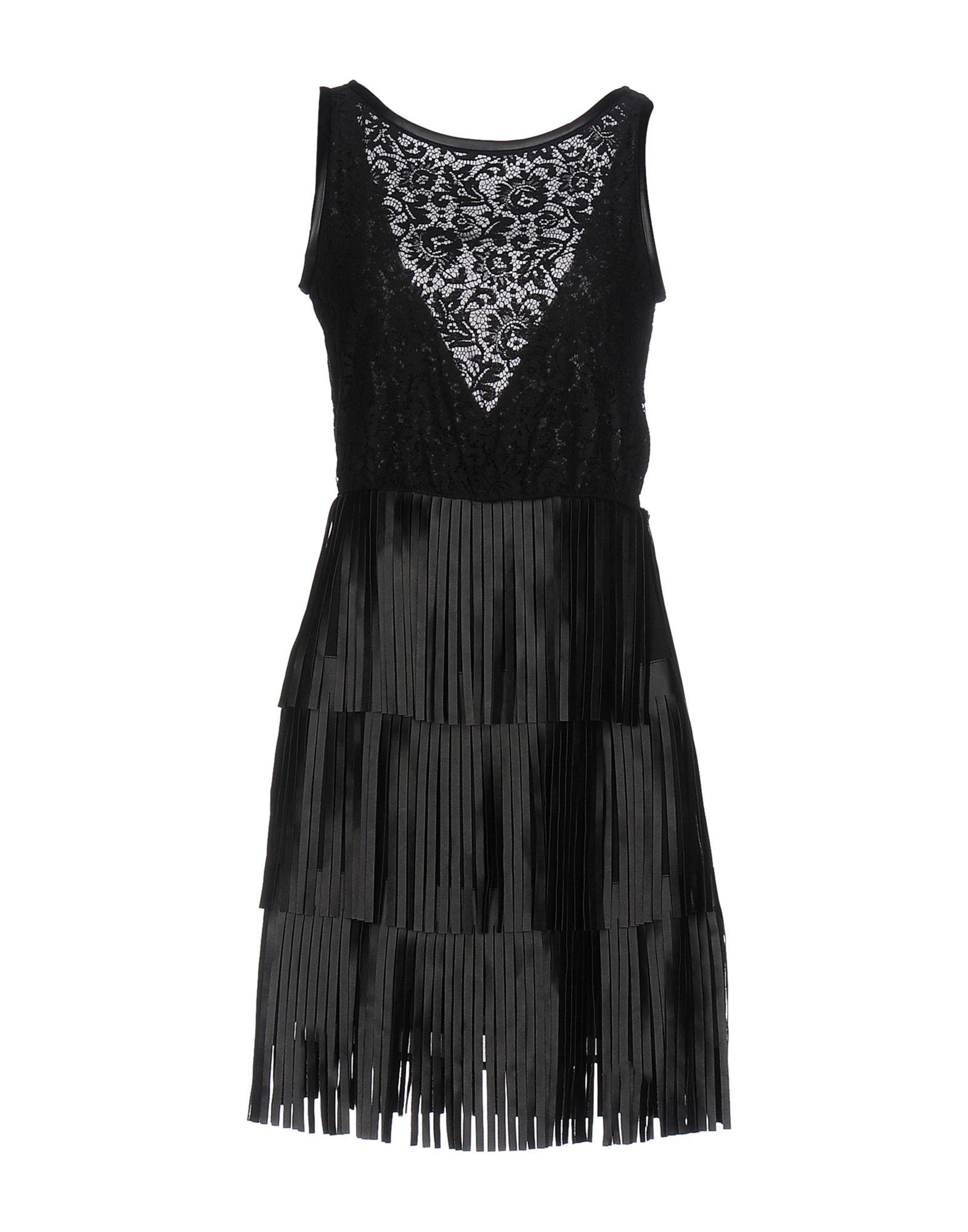 LES COCKTAILS DE LIU •JO Damen Kurzes Kleid Farbe Schwarz Größe 2