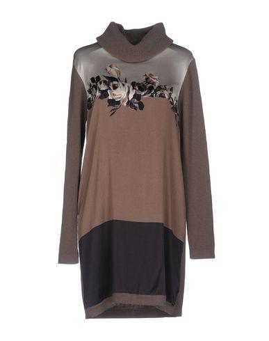 Короткое платье ANGELO MARANI. Цвет: хаки