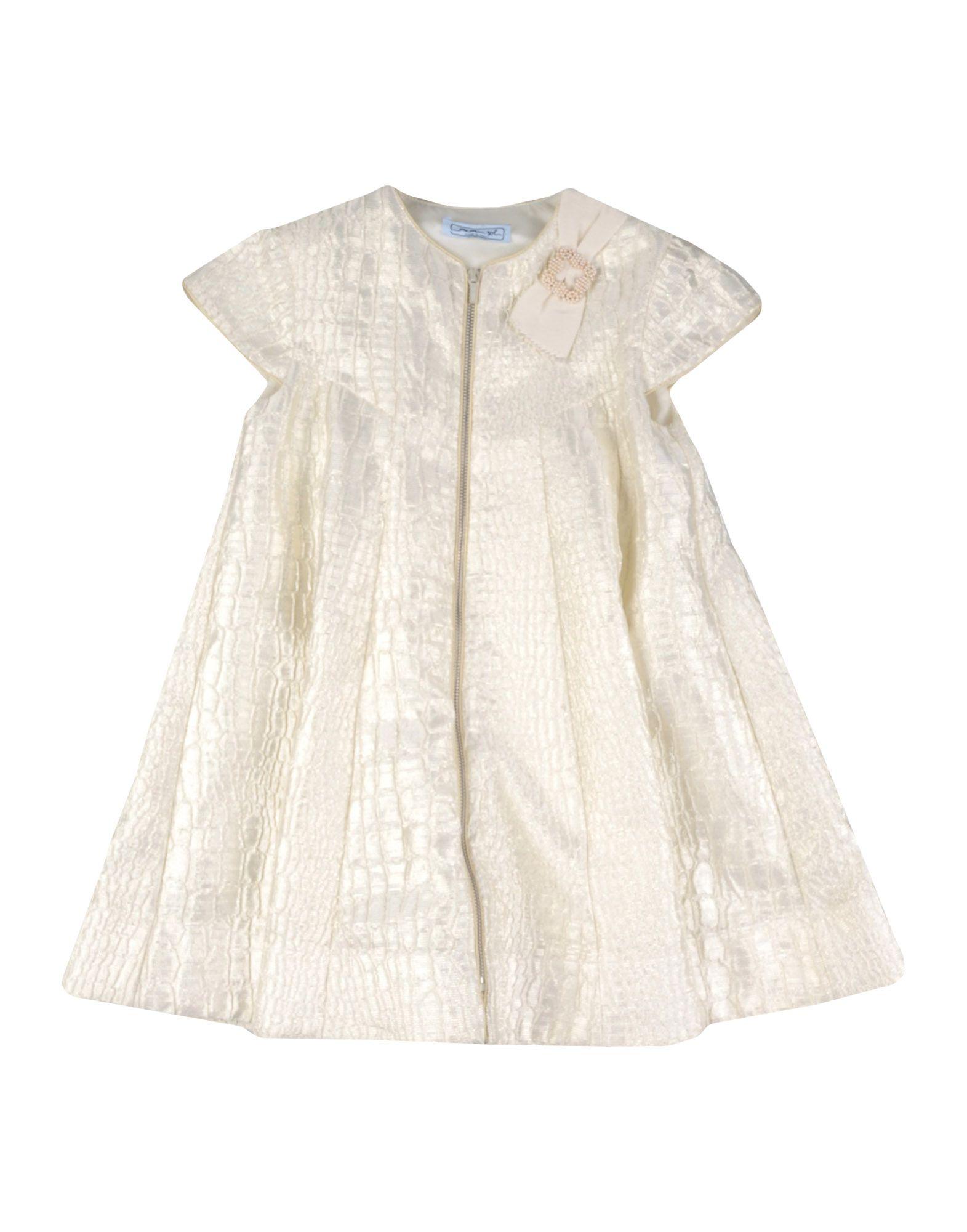 《送料無料》MIMISOL ガールズ 3-8 歳 ワンピース&ドレス アイボリー 8 ポリエステル 80% / シルク 13% / ポリアクリル 7%