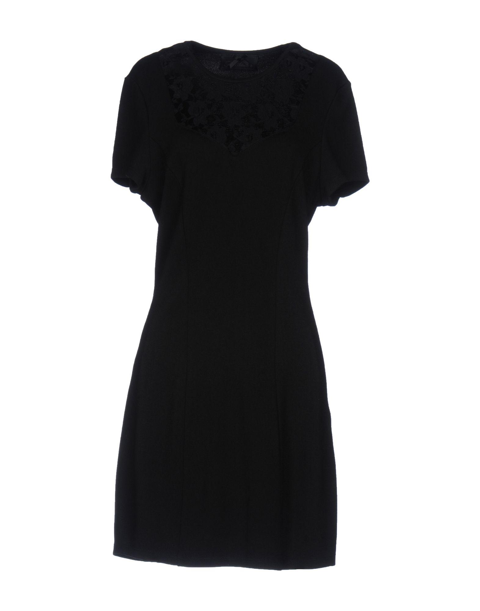 ATELIER FIXDESIGN Damen Kurzes Kleid Farbe Schwarz Größe 6