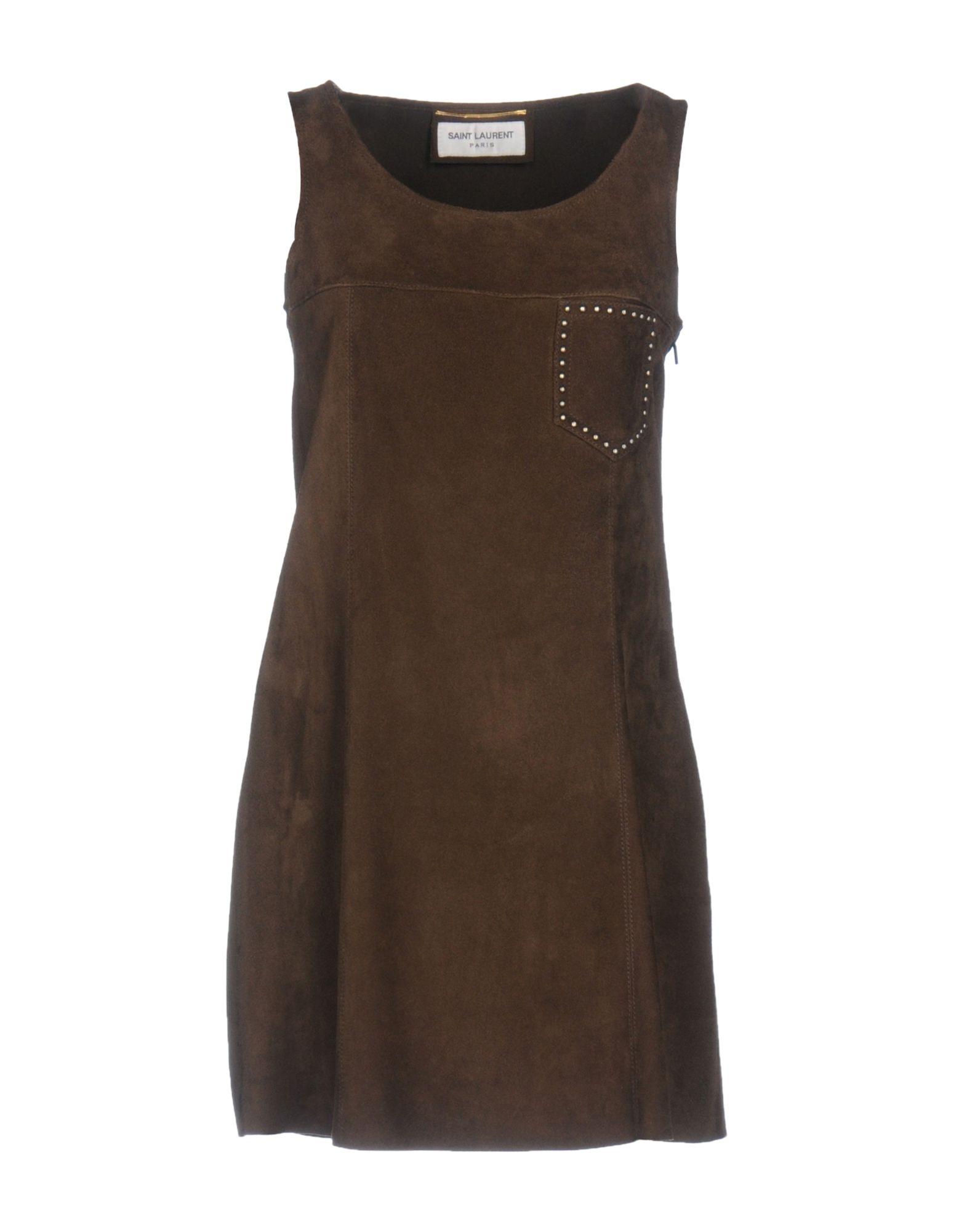 Фото SAINT LAURENT Короткое платье. Купить с доставкой