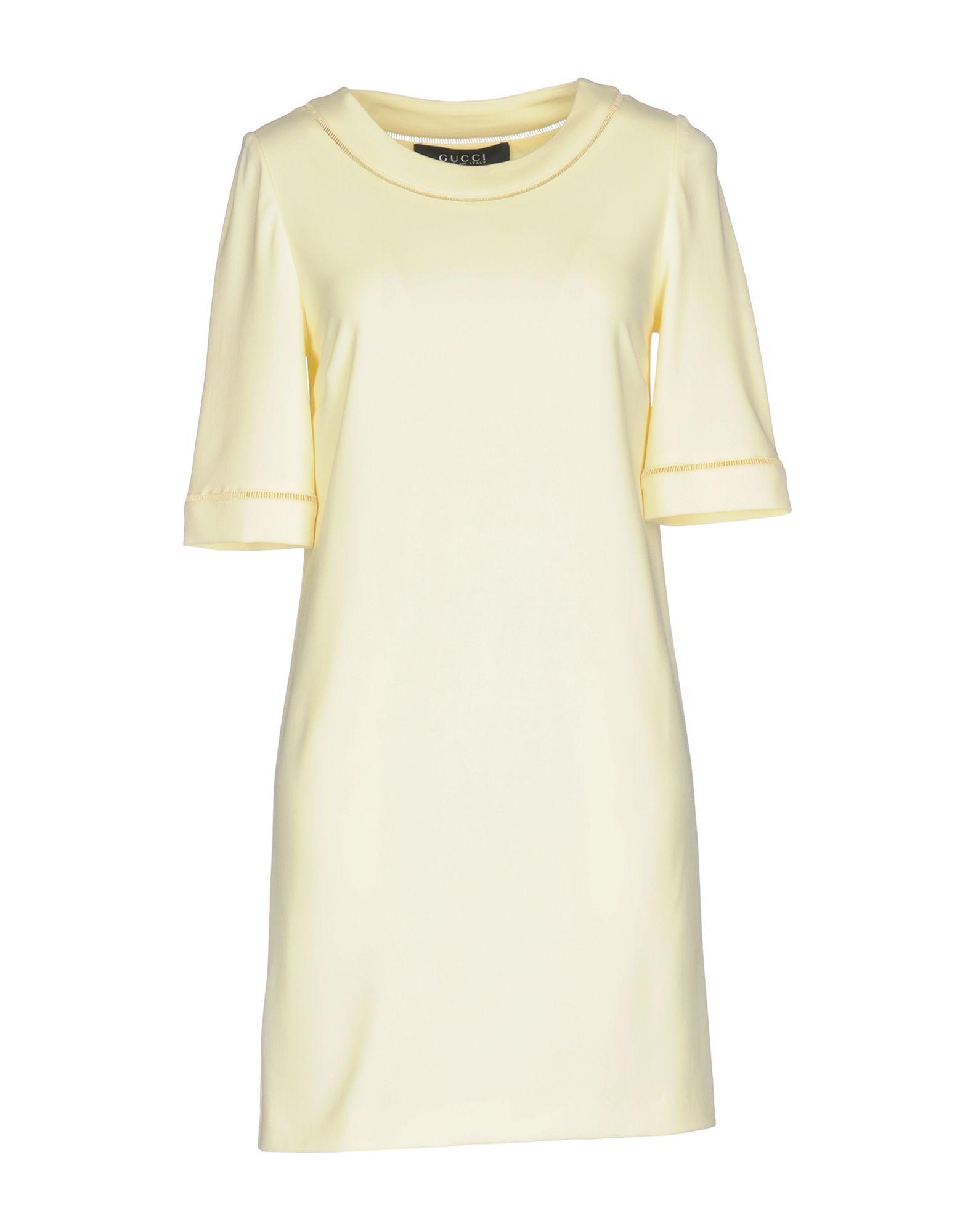 GUCCI Damen Kurzes Kleid Farbe Hellgelb Größe 4