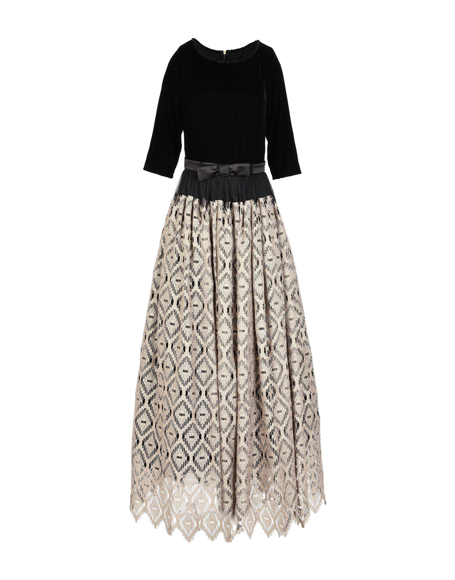 《送料無料》RALUCA MIHALCEANU レディース ロングワンピース&ドレス ゴールド M 紡績繊維