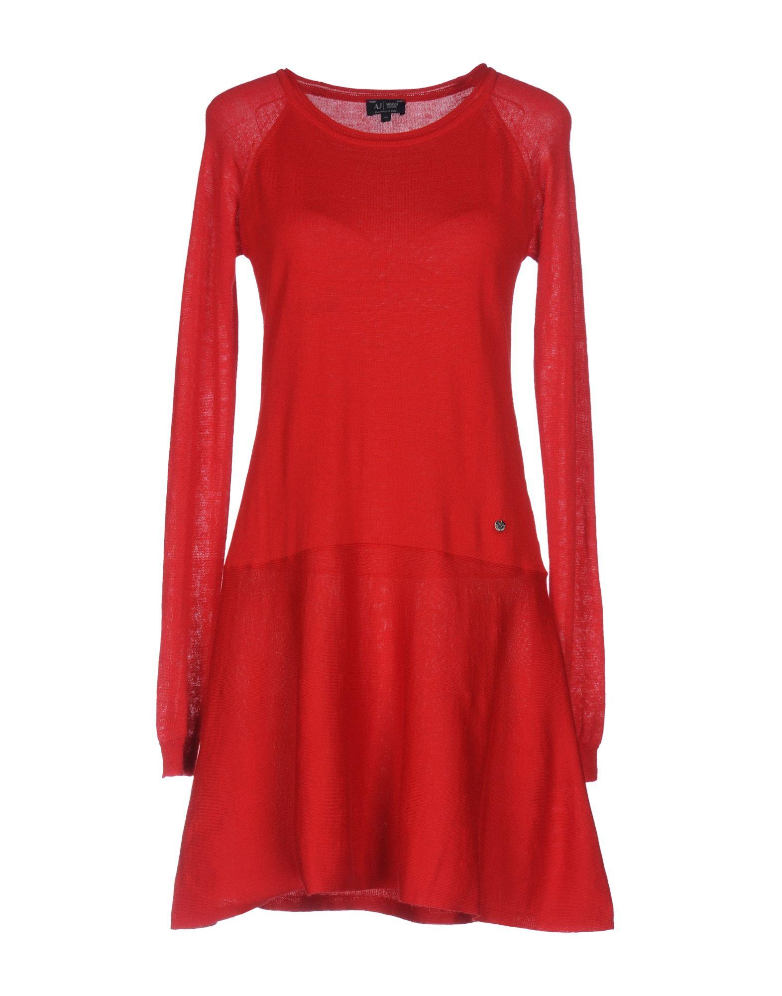 ARMANI JEANS Damen Kurzes Kleid Farbe Rot Größe 4