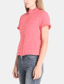 ARMANI EXCHANGE SHORT SLEEVE RUFFLE DETAIL QUILTED JACKET Jacket Woman d