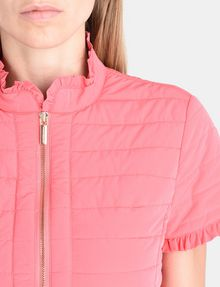 ARMANI EXCHANGE SHORT SLEEVE RUFFLE DETAIL QUILTED JACKET Jacket Woman e