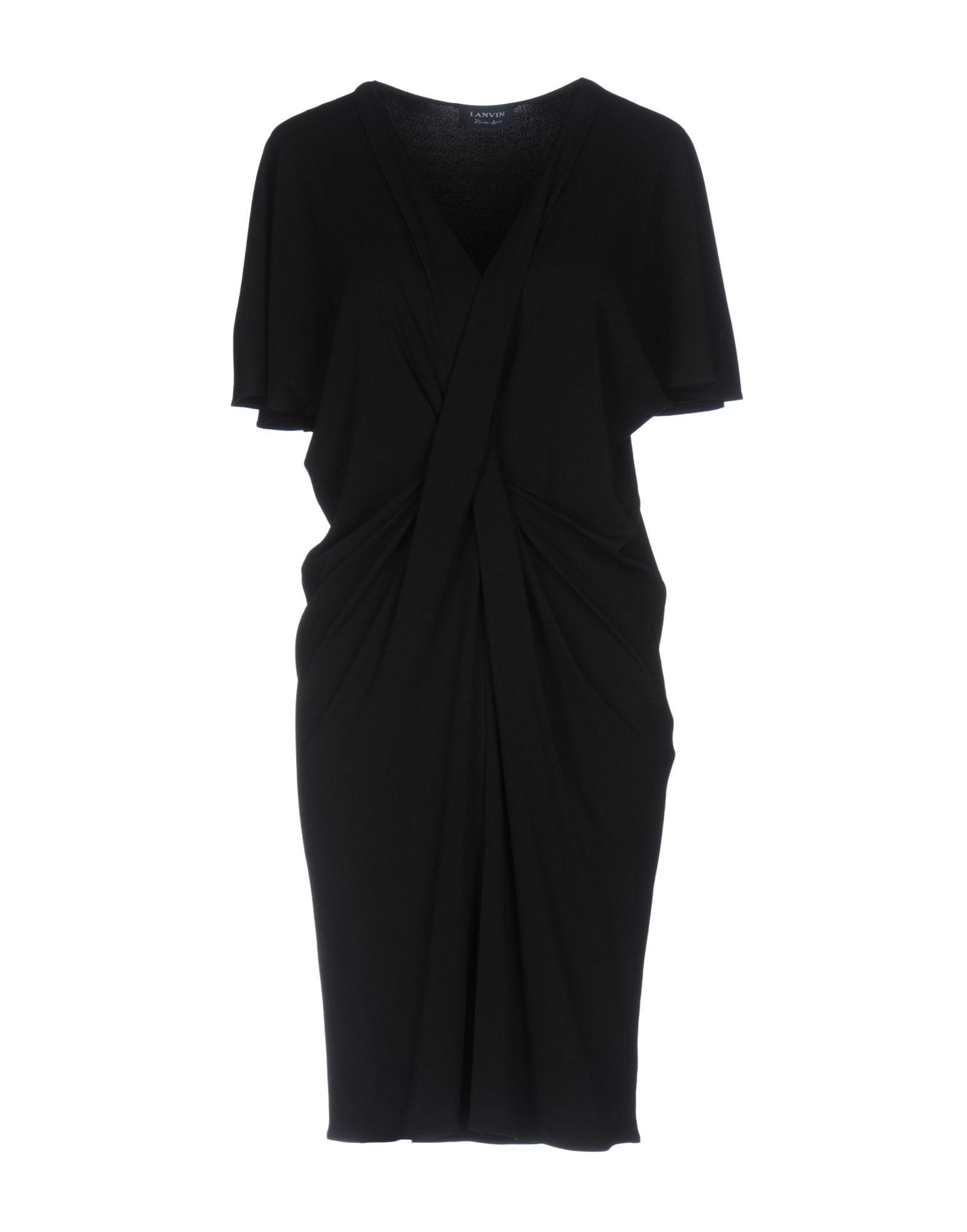 LANVIN Damen Kurzes Kleid Farbe Schwarz Größe 3