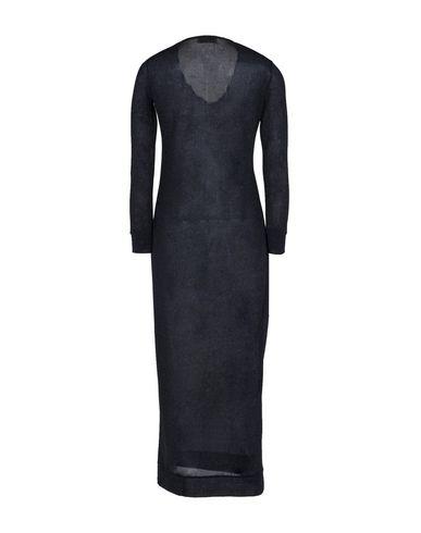 Фото 2 - Женское длинное платье MOMONÍ черного цвета