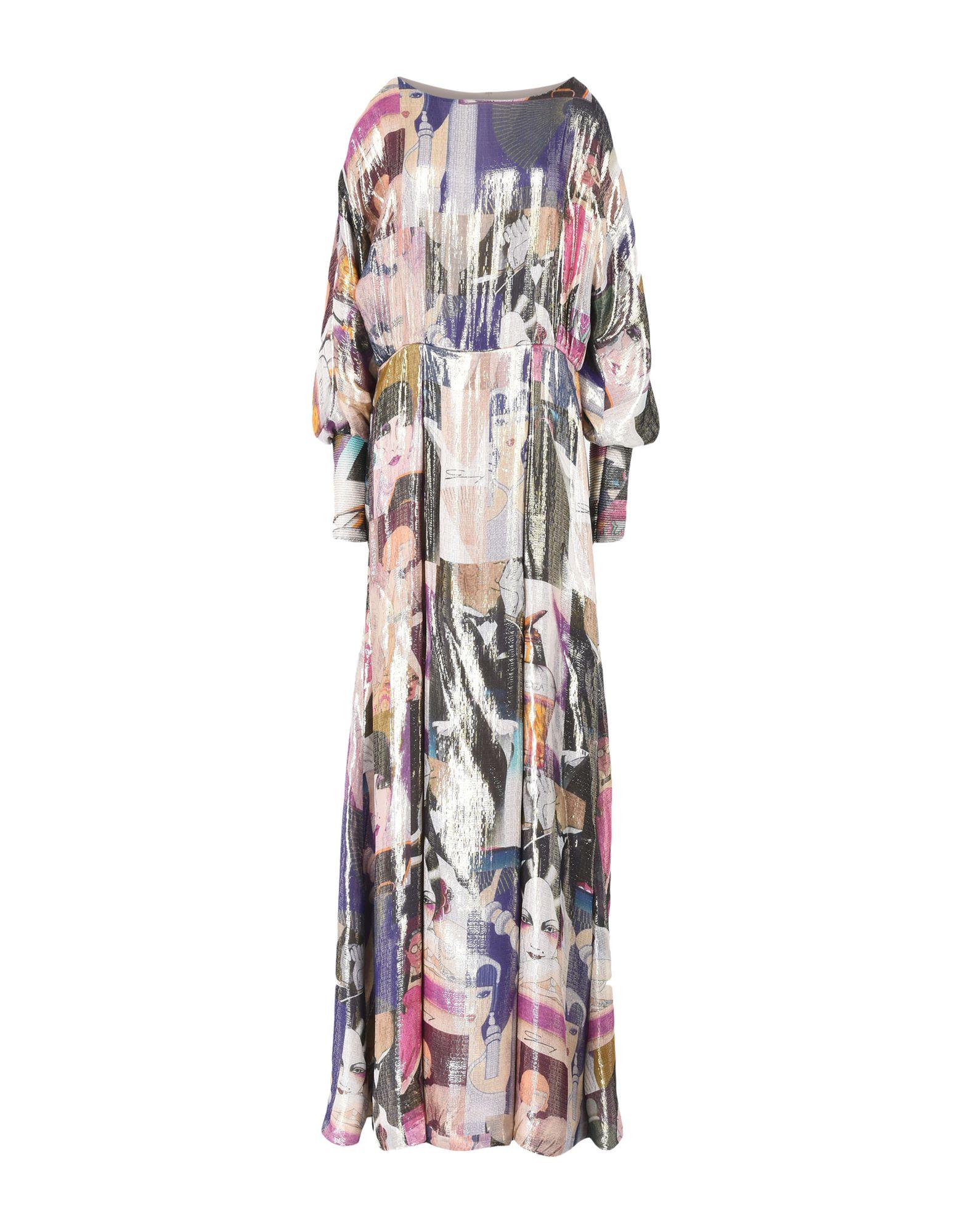 GENNY Длинное платье платье короткое спереди длинное сзади летнее