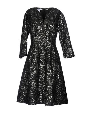 OSCAR DE LA RENTA Damen Knielanges Kleid Farbe Schwarz Größe 8