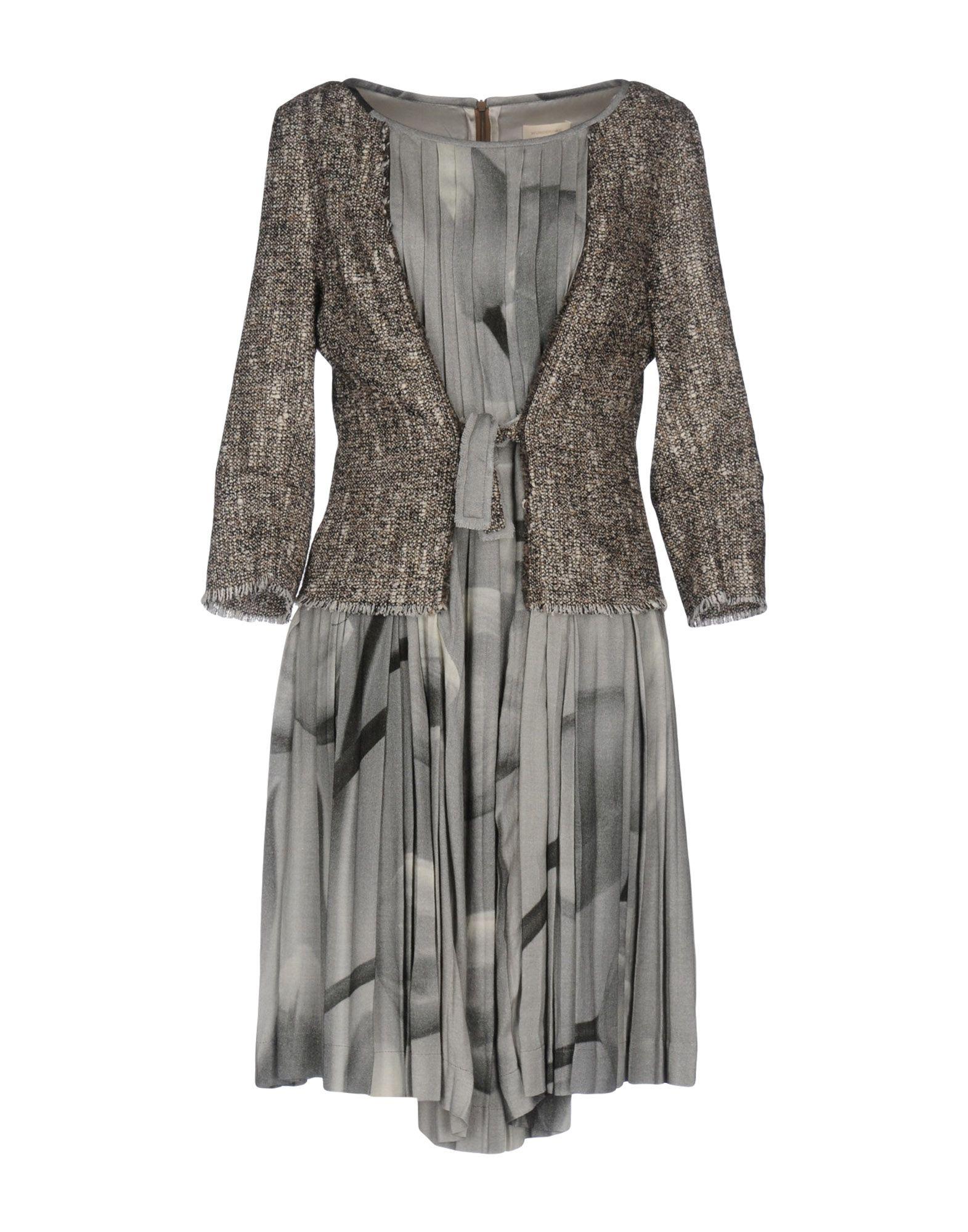 WUNDERKIND Short Dress in Light Grey