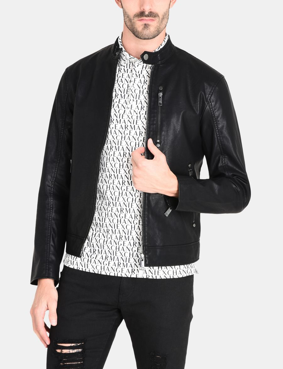 Clean leather motorcycle jacket