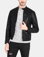 ARMANI EXCHANGE CLEAN FRONT FAUX LEATHER MOTO JACKET PU Man f