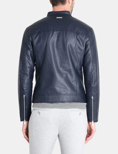 moto leather jacket mens. armani exchange clean front faux leather moto jacket man retro moto leather jacket mens