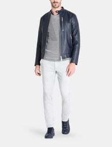 ARMANI EXCHANGE CLEAN FRONT FAUX LEATHER MOTO JACKET PU Man a