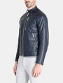 ARMANI EXCHANGE CLEAN FRONT FAUX LEATHER MOTO JACKET PU Man d