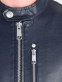 ARMANI EXCHANGE CLEAN FRONT FAUX LEATHER MOTO JACKET PU Man e