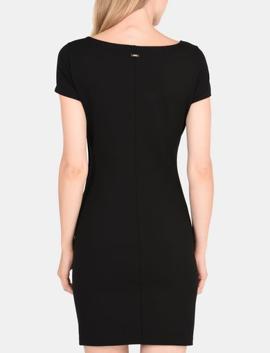SIDE-BUTTON PONTE BODYCON DRESS