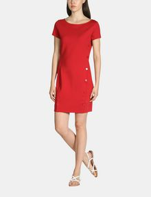 ARMANI EXCHANGE SIDE-BUTTON PONTE BODYCON DRESS Mini dress Woman a