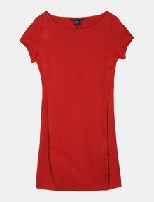 ARMANI EXCHANGE SIDE-BUTTON PONTE BODYCON DRESS Mini dress Woman b